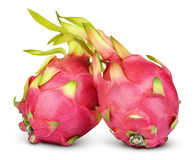 Dragon fruit or pitaya isolated on white Royalty Free Stock Photography