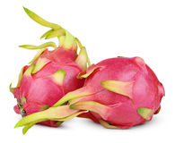 Dragon fruit or pitaya isolated on white Stock Image