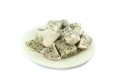 Dragon fruit on plate Stock Images