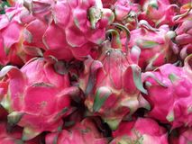 Dragon Fruit. Red dragon fruit at the farmer market Stock Images