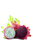 Dragon fruit in Red and white color Stock Images