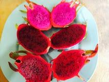 Dragon Fruit rosso Fotografia Stock Libera da Diritti