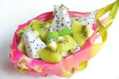 Dragon fruit salad Royalty Free Stock Photo