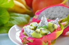 Dragon fruit salad Royalty Free Stock Images