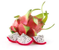 Dragon Fruit slice on white background Royalty Free Stock Photo