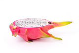 Dragon fruit. Sliced dragon fruit on white background Stock Image