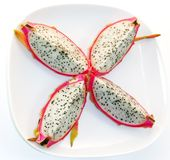 Dragon fruit slices Royalty Free Stock Photography