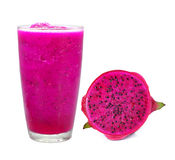 Dragon fruit smoothie royalty free stock image