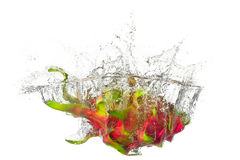 Dragon-fruit splashes Stock Images