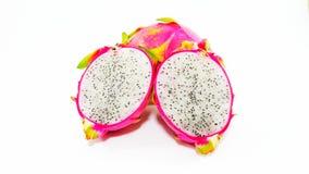Dragon Fruit sui precedenti bianchi fotografia stock libera da diritti