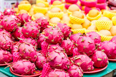 Dragon fruit at traditional market in Taiwan Stock Image