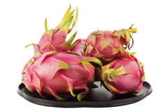 Dragon fruit on the tray Royalty Free Stock Images