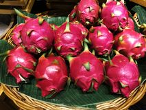 Dragon fruit ,thai fruit stock image