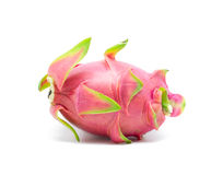 Dragon fruit on white Royalty Free Stock Images