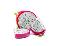 Dragon fruit on a white Royalty Free Stock Images