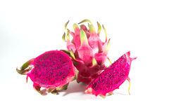 Dragon fruit. On a white background Royalty Free Stock Photo