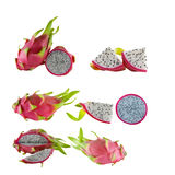 Dragon Fruit on white background Royalty Free Stock Image