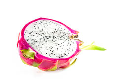 Dragon fruit on white background Royalty Free Stock Photos