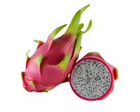 Dragon Fruit on white background Stock Images