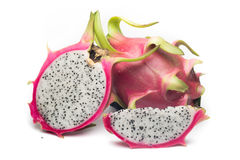 Dragon fruit on white background. Dragon fruit isolated on white background. healthy food Royalty Free Stock Photography