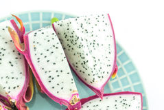 Dragon fruit on white background Stock Photography