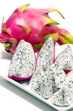 The Dragon Fruits ( Hylocercus undatus (Haw) Brit. & Rose.) Royalty Free Stock Images