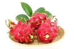 Dragon fruits isolated and white background. Dragon fruits isolated on white background stock image