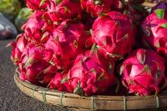 Dragon fruits at the market, Vietnam Stock Image