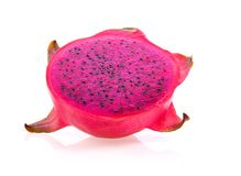 Dragon fruits slice on white background royalty free stock photo
