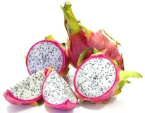 Dragon Fruits. On White Back Ground Royalty Free Stock Image