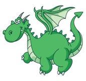 Dragon Funny verde Imagens de Stock