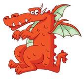 Dragon Funny vermelho Fotos de Stock