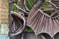 Dragon in the garden of the Hesperides, Barcelona Stock Photos