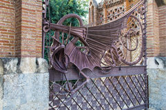 Dragon in the garden of the Hesperides, Barcelona Royalty Free Stock Image