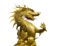 Dragon  the gardian. Dragon the statue in thailand Stock Photography