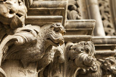 Dragon Gargoyle On Cathedral Royalty Free Stock Photo