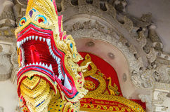 Dragon on gates of the temple in Bangkok, Thailand Stock Images