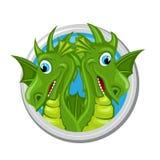 Dragon Gemini Zodiac tecken stock illustrationer