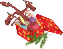 Dragon in a gift box Royalty Free Stock Photo