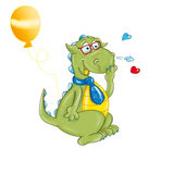 The dragon with glasses and tie balloon Stock Image