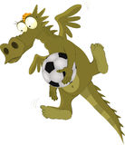 Dragon the goalkeeper Royalty Free Stock Image