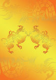 dragon on gold Royalty Free Stock Photos