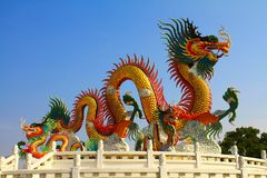 Dragon. The gold chinese dragon style Stock Photo