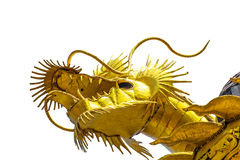 Dragon gold is made from scrap steel. On isolate background stock photos