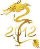 Dragon Gold (vector). New Year of the Dragon 2012 stock illustration