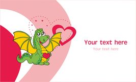 Dragon greeting card Royalty Free Stock Images