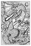 Dragon, hand drawn illustration Royalty Free Stock Photography