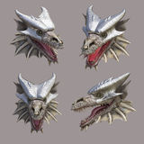 Dragon head. At different angles Stock Photography