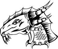 Dragon head. The vector image head of fantastic dragon Stock Illustration