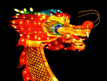 Dragon head. During celebration of chinese new year Stock Photos